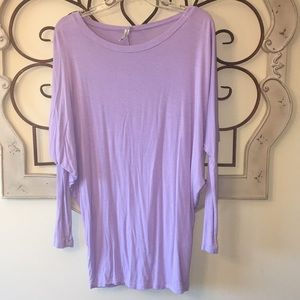 Lavender Dolman Sleeve Top Size Small